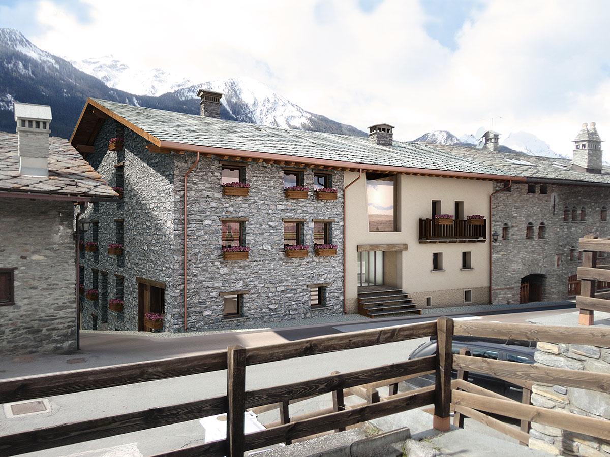 Isigest vendita appartamento valle d aosta la salle 131 for Arredare appartamento seminterrato